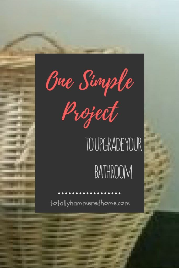 One Simple Project To Upgrade Your Bathroom | Taking an old clothes laundry hamper and respraying it to give fresh life to your bathroom.