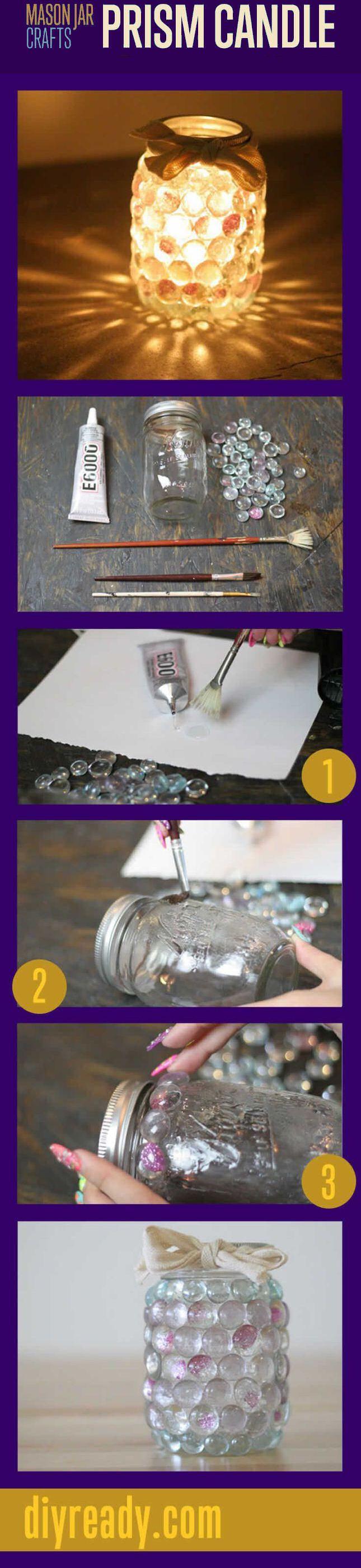 DIY Mason Jar Prism Light