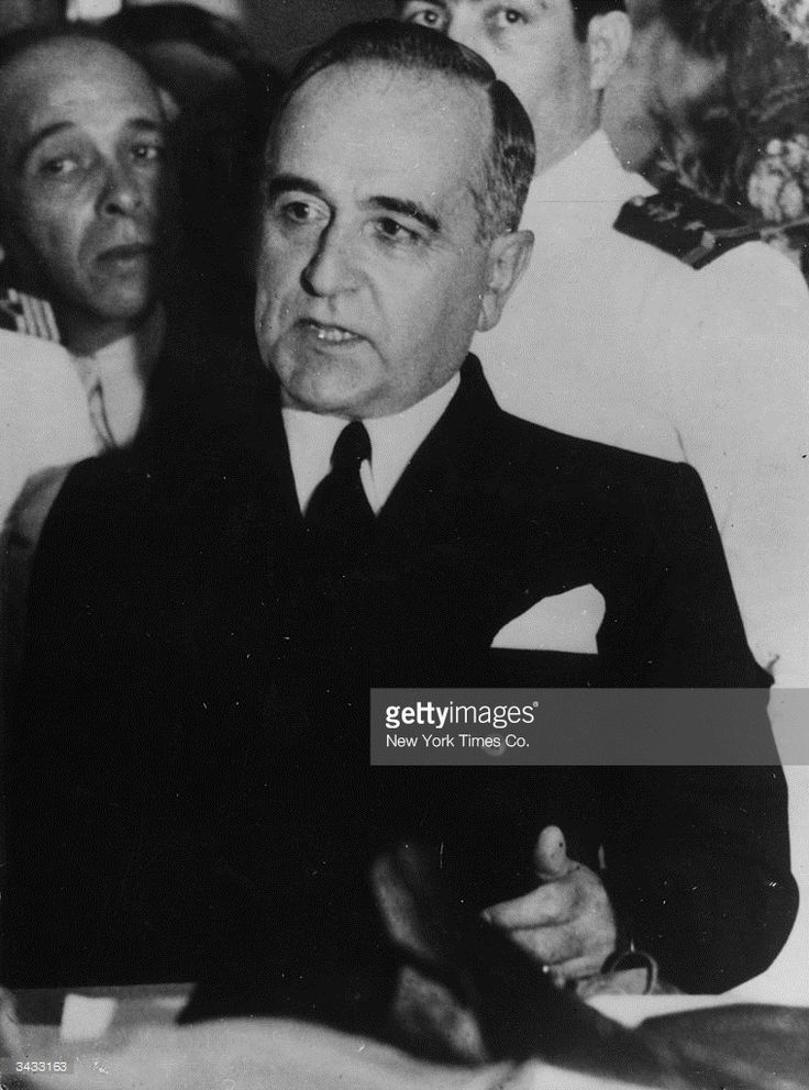 1938: Brazilian dictator, Getulio Vargas (1883 - 1954), who was overthrown in a military coup.