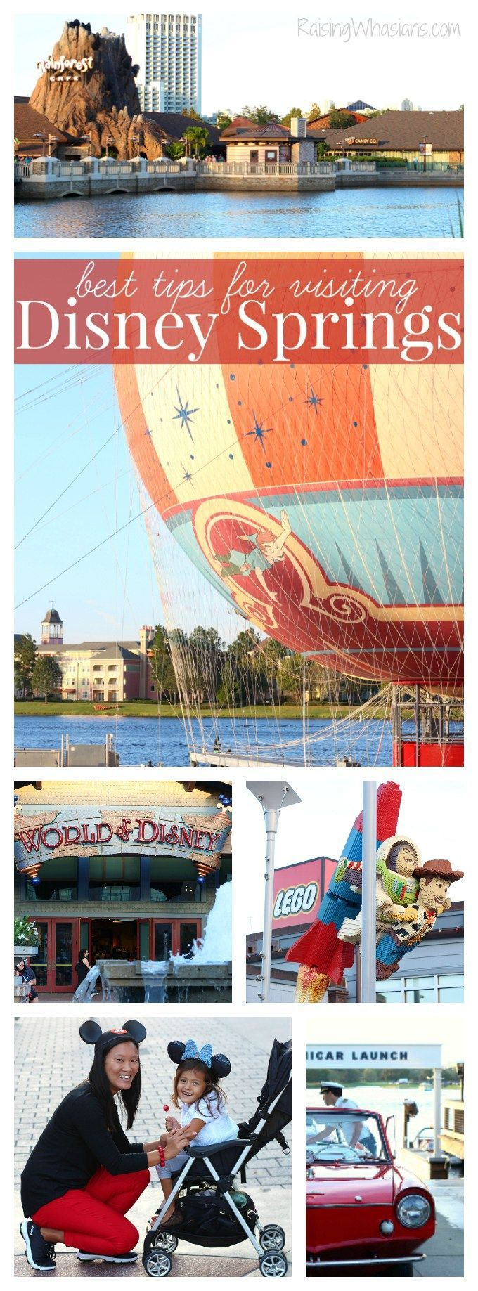 Best Tips for Visiting Disney Springs in Orlando, FL including a list of FREE goodies & activities - Raising Whasians #ReebokCloudRide #IC AD