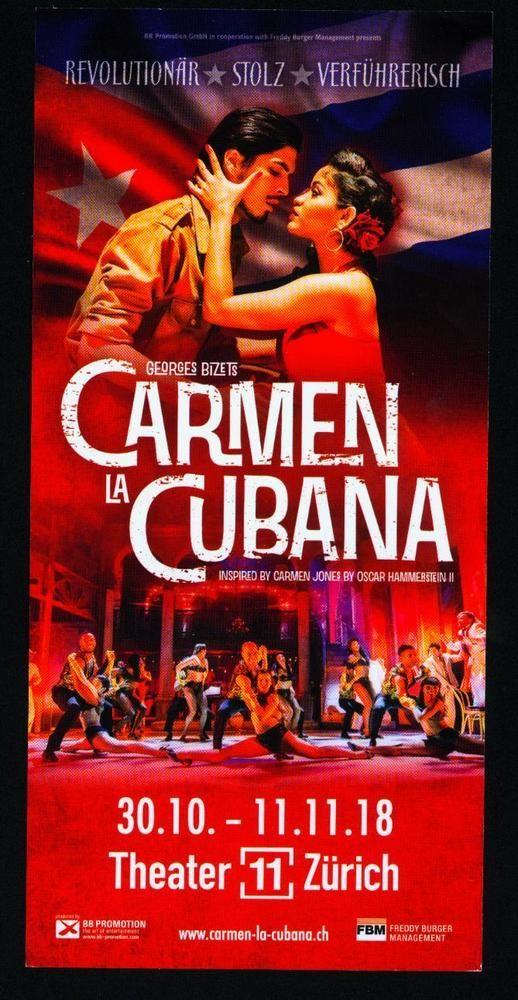 CARMEN LA CUBANA  2018 - ORIGINAL MUSICAL FLYER - KEIN TICKET