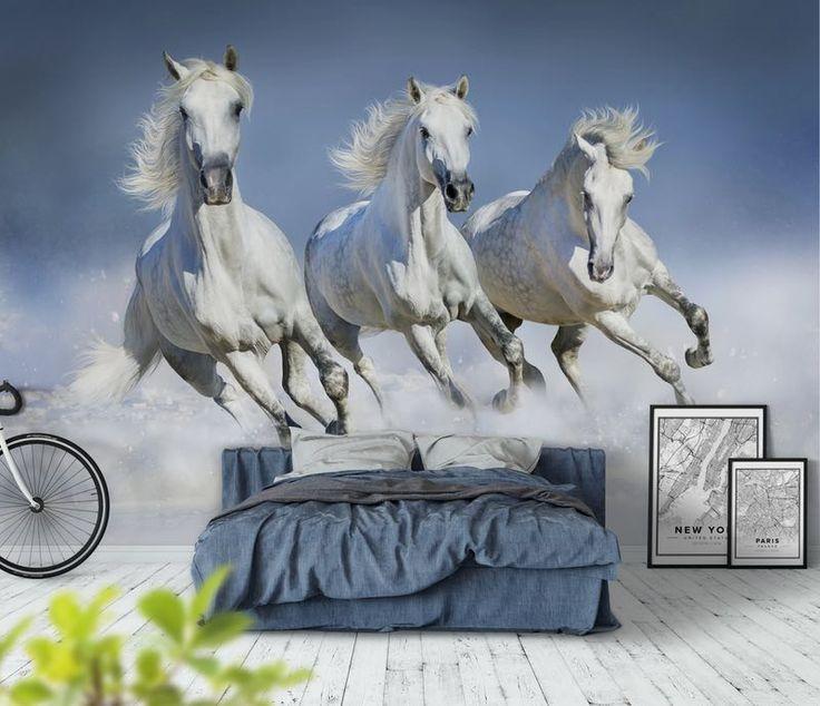 Hästar vinter Tapet