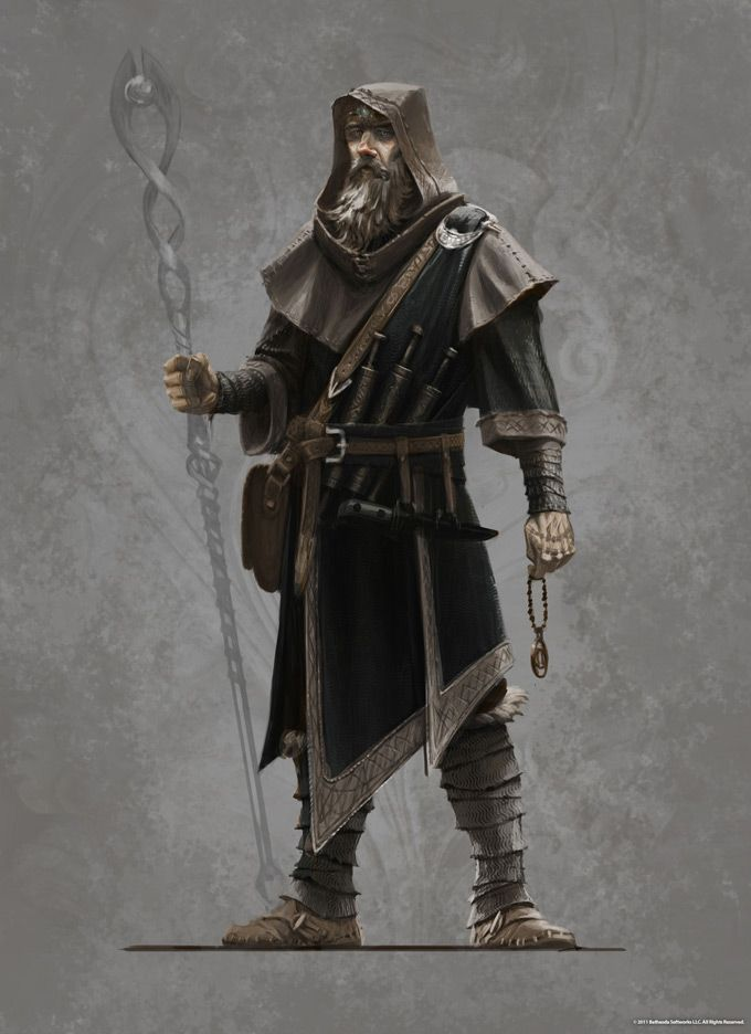 A cross between the Arch-mage and Tolfdir?  Either way, Skyrim is awesome.