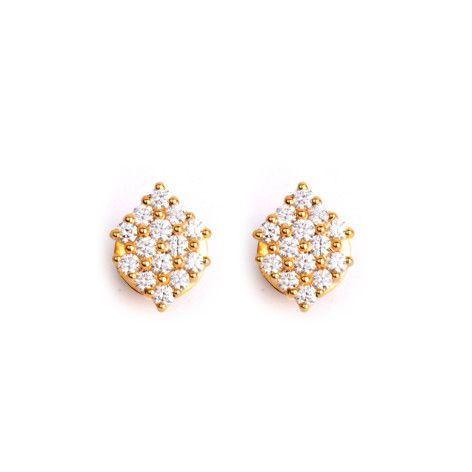 Art Deco #Diamondstud - Round brilliant diamonds of the finest quality come together to make this stunning pair of studs #handcrafted in #18kgold.