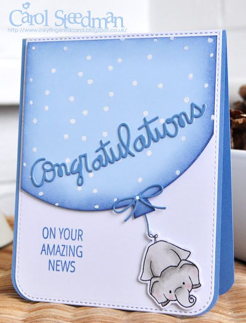 MFT and WPlus 9 Unforgettable new Grandparents card. Love the gel pen spots.
