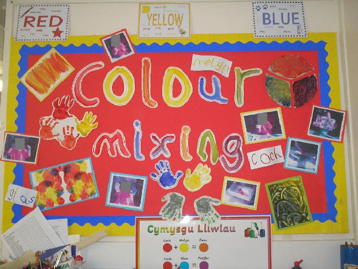 A paint colour mixing display photo from Melanie.