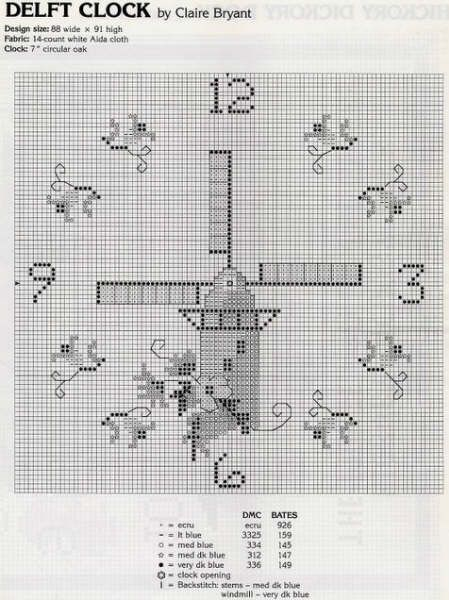 Cross Stitch for Clocks - 5