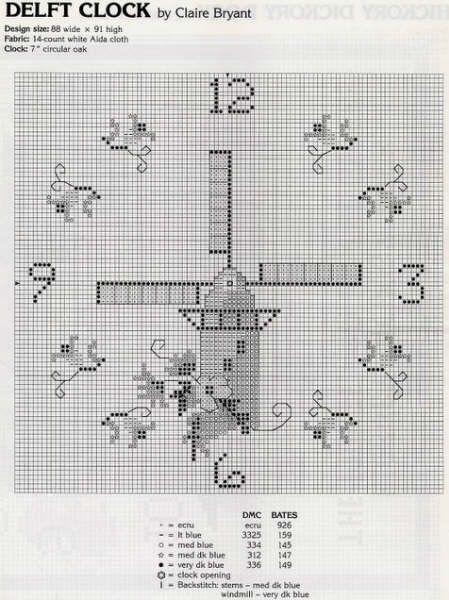 Schema punto croce Orologi Misti 5