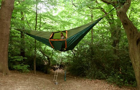 A hammock as a bed? How about a whole hammock tent!