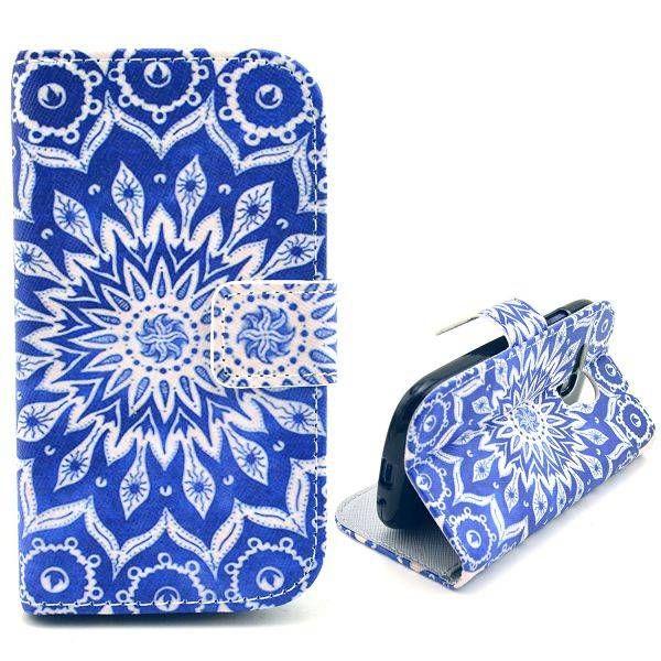 Mandala bloem bookcase voor Samsung Galaxy S3 mini