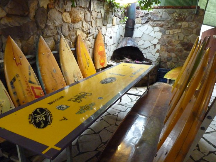 Recycled Surf Board Tables I Found In A Cool Mexican Restaurant Off The  Australian East Coast