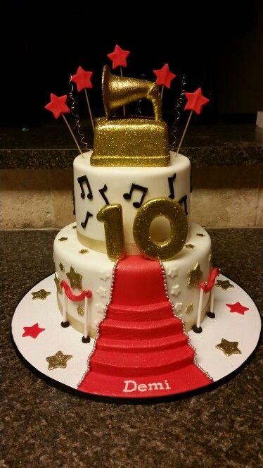 Red Carpet Grammy Award Cake Aggie S Sweets Pinterest