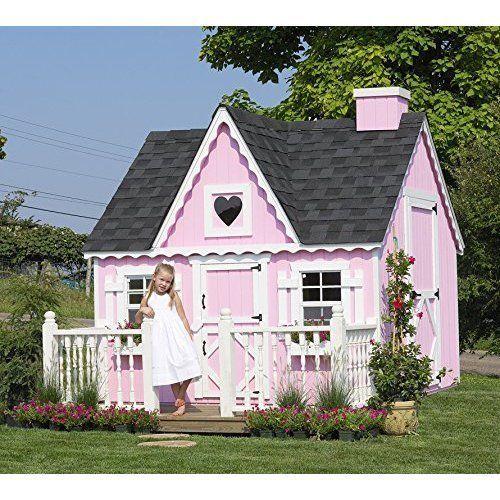 Best Outdoor Kids Playhouse Children Fun Playtime Victorian DIY Playhouse Kit #OutdoorKidsPlayhouse
