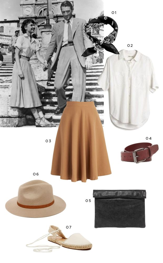 I have got to wear Audrey's Roman Holiday outfit in Rome!