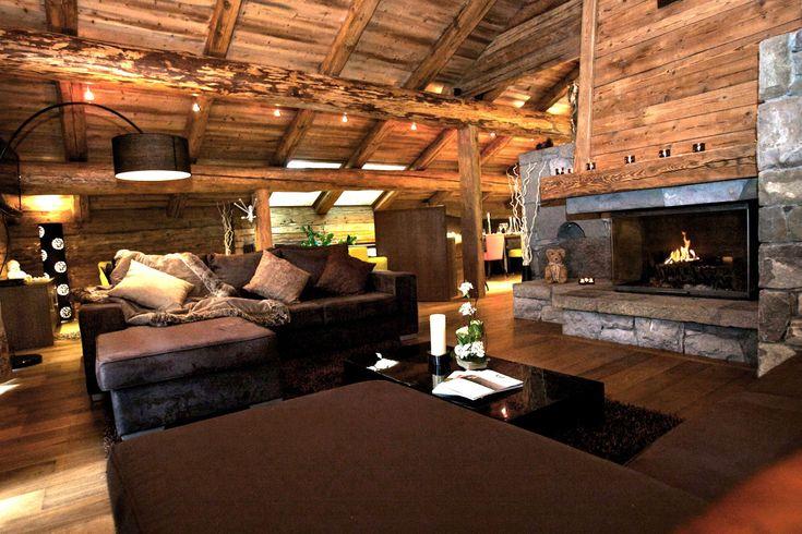 dcoration dinterieur rustiques des chalets de montagne  Bellas Pins  Home Decor Home Wood