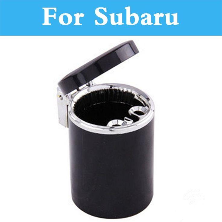 Car LED Cigarette Smoke Ashtray Ash Cylinder Cup Holder For Subaru Impreza Impreza WRX BRZ Dex Exiga STi Justy Forester Alcyone