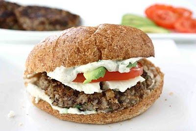 Black Bean Burger with cilantro lime mayo