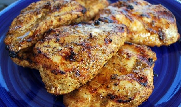 Best Ever Grilled Chicken Marinade All you need is: 1 cup extra virgin olive oil, 1/2 cup soy sauce, freshly squeezed juice of two limes, 3 cloves of garlic, pressed, 1/2 tsp sea salt, 1/2 tsp fresh black pepper, 1/2-1 tsp Tabasco sauce, 2-3 tbsp natural brown sugar. For better results I recommend marinating the meat 24 hours before cooking it!