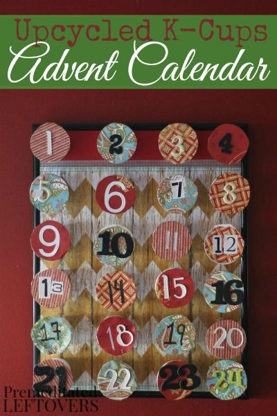 Put your leftover K cups to good use to create this pretty, upcycled K Cup advent calender to help countdown the days until Christmas.