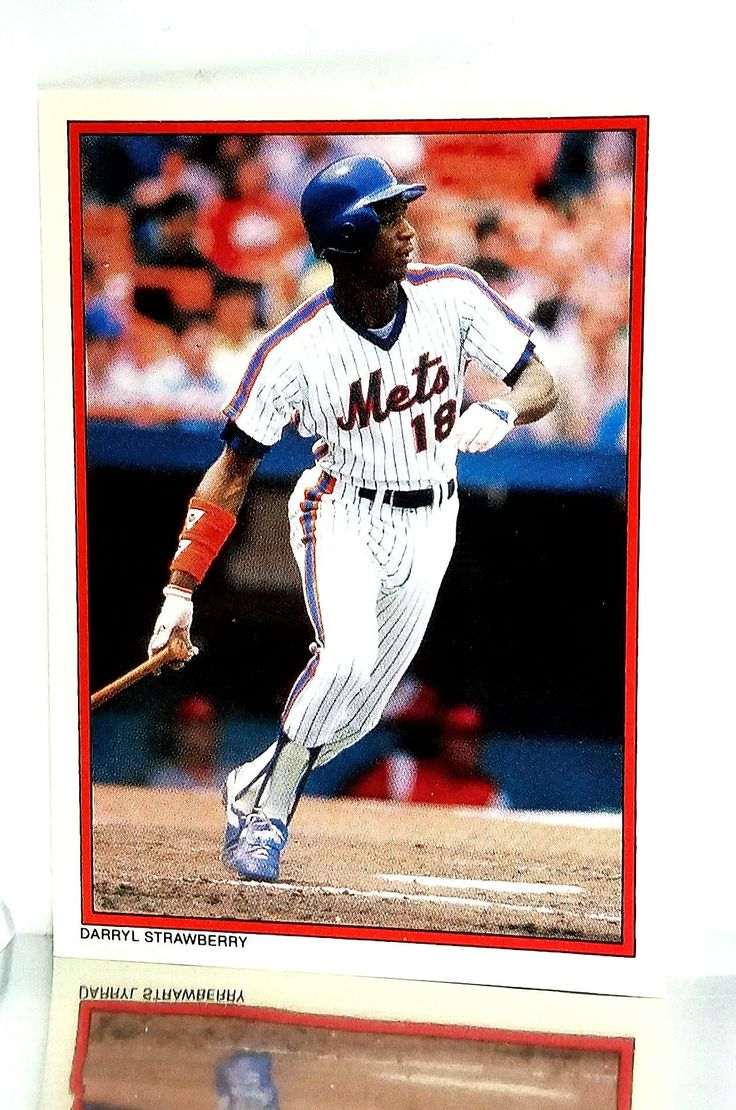 1984 Topps Exclusive Mail-in Redemption Glossy All-Star Limited Edition #29 Darryl Strawberry Rookie Card