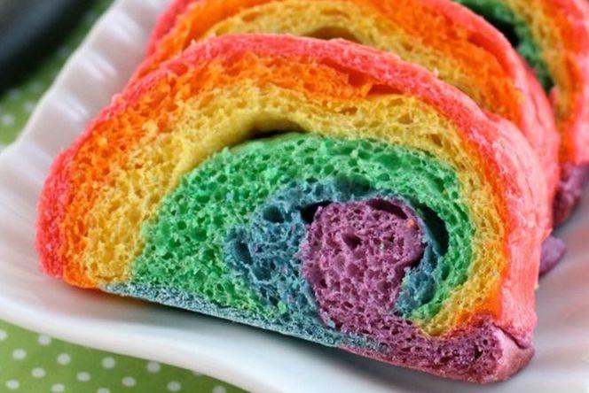 <p>RAINBOW BREAD! It's so brigh...