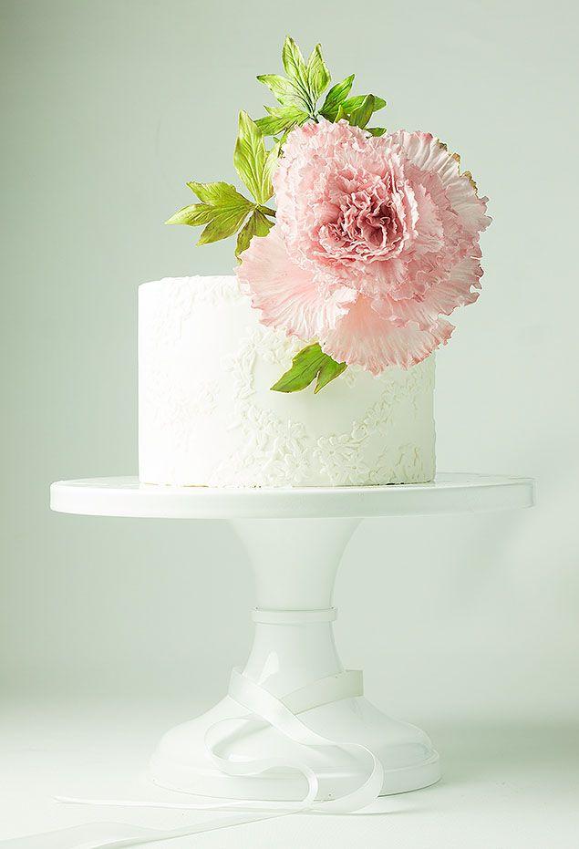 Så vackra tårtor, alla blommor är gjorda av socker…  pion