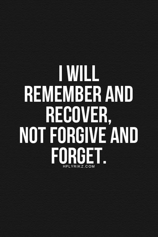 I Will Remember & Recover