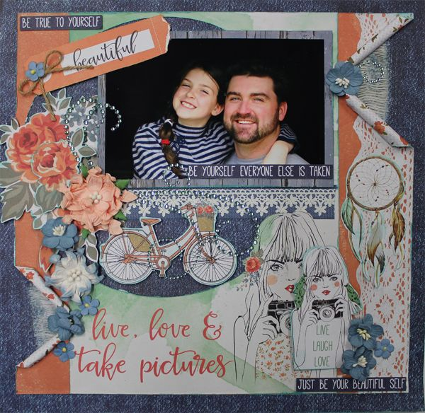 Live Love & Take Pictures - single page July16 Kit Club Designed by Carol Barron