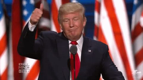 Election 2016 donald trump thumbs up rnc republican national convention