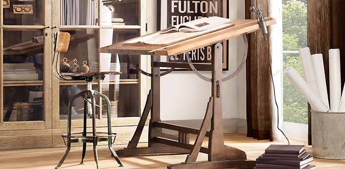 Drafting Table Desk | Restoration Hardware