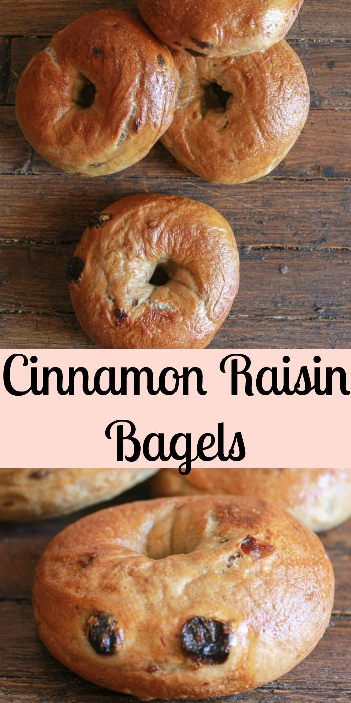 Make it Happen - Homemade Cinnamon Raisin Bagels, an easy delicious bagel recipe. The perfect breakfast, snack or anytime food.|anitalianinmykitchen.com