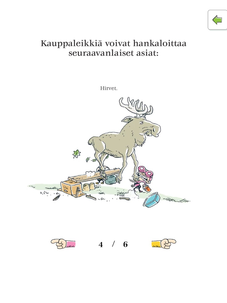 Tatu and Patu interactive children's storybook in Finnish https://itunes.apple.com/app/tatu-ja-patu-pihalla/id584802848