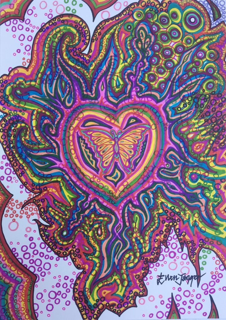 Colourful Drawing//Original//Ink on Paper//Butterfly//Pattern//Psychedelic//Wall Art//Wall Decor//Hippie//Hippy//Boho//Multicoloured by EllenJaggerStudios on Etsy https://www.etsy.com/uk/listing/502115832/colourful-drawingoriginalink-on