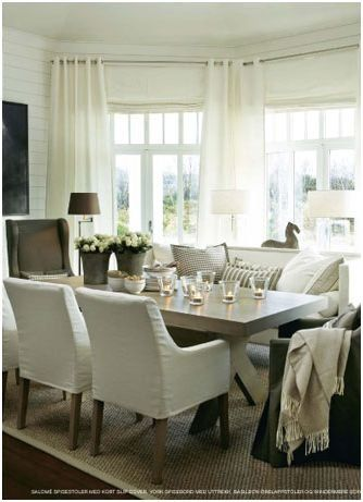 Love a good slipcovered dining chair
