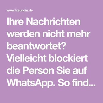Wer blockiert mich bei WhatsApp? | freundin.de