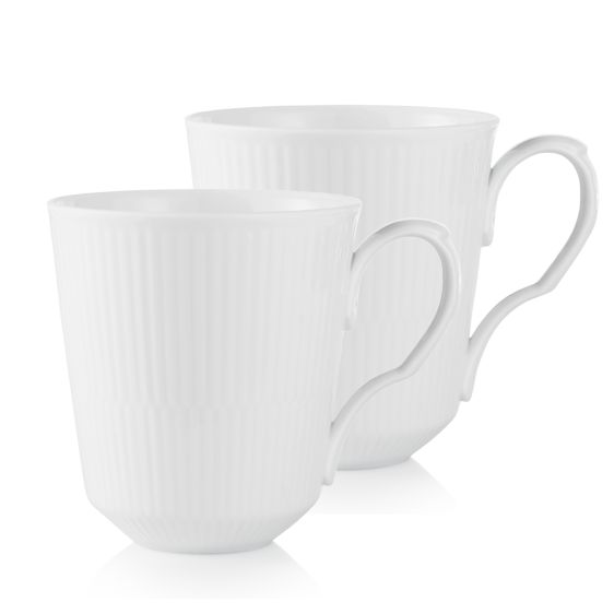 Royal Copenhagen White Fluted 2 pcs. mugs
