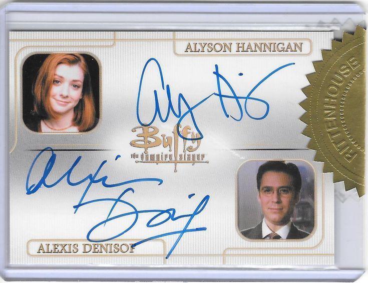 Buffy Tvs - Uc Set 3 - Alyson Hannigan & Alexis Denisof- Dual Auto - Bv$225