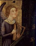 Angel playing a Harp  by Pere Serra
