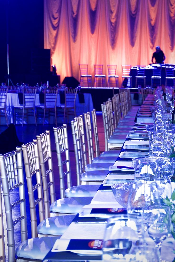 Couldn't resist adding another picture of our elegant Gold Chiavari chairs at this event
