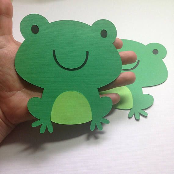 Large Frog Die Cuts Pond Animal Party Friendly Pond Baby