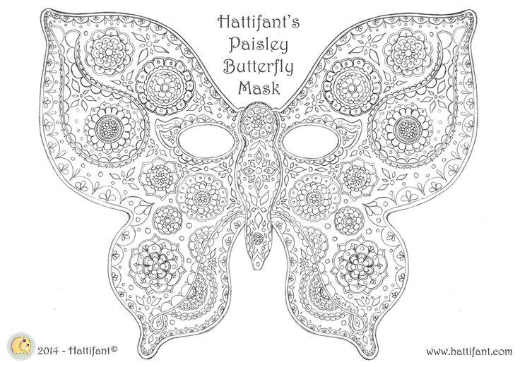 Hattifant's Paisley Butterfly Masks - Hattifant