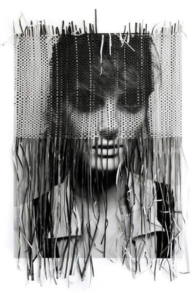 Paper Weaving Portrait | photographer: Michelangelo di Battista , paper weaving: Tina  Berning: