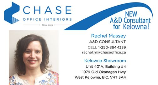 We're proud and excited to introduce Rachel Massey as our NEW A&D Consultant for the Kelowna area! Please click below to read more on Rachel's vast knowledge and experience in the Project Management field.