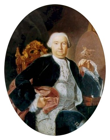 Giacinto Diano (1731-1803) Portrait of architect Luigi Vanvitelli (18th century).....architect of the Royal Palace of Caserta....