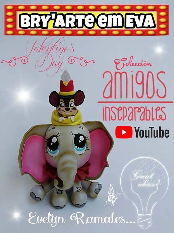 Como hacer a Dumbo en Goma Eva  96dbbe30c94