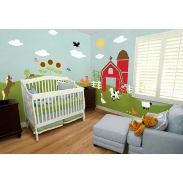 Nursery Stencil Wall Baby Nursery Design Ideas