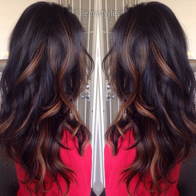 Balayage Highlights On Indian Hair