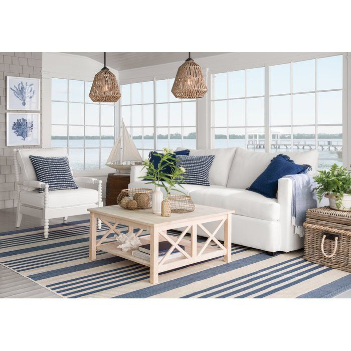 14x12 63 Rod Not Cord Beachy Living Room Beach House Living Room Coastal Living Rooms