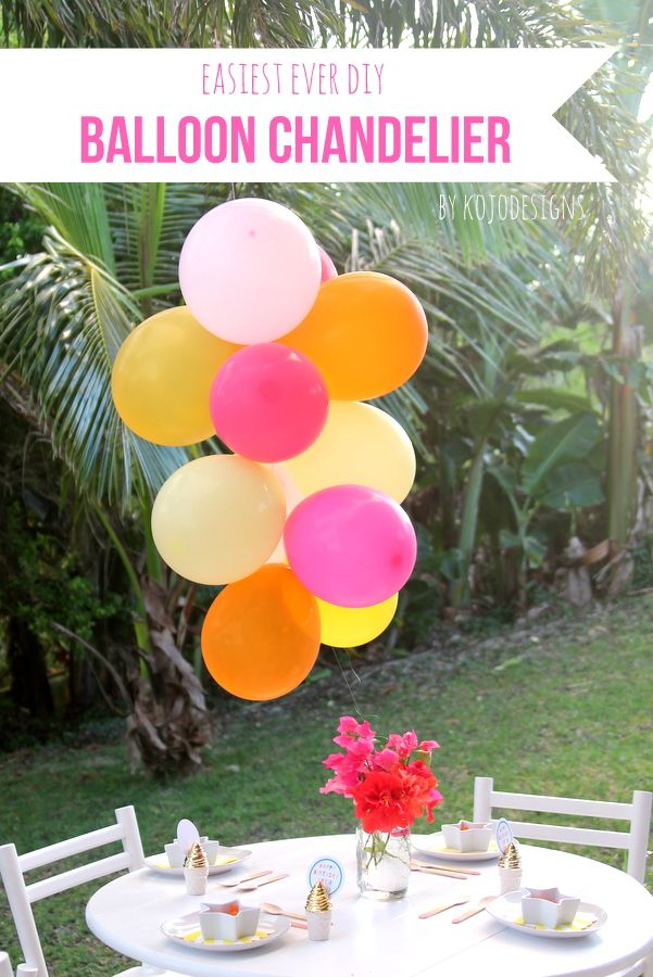 how to make a balloon chandelier