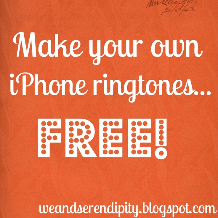 Make your own iPhone ringtones